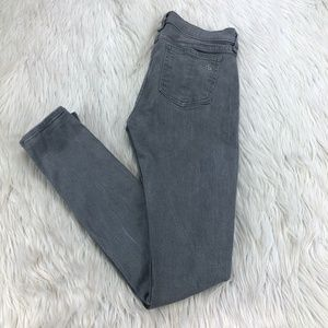 Rag & Bone Dark Iron Gray Wash Skinny Jeans